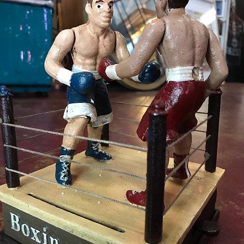 Cast iron boxing money bank