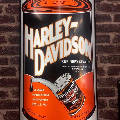 Back lit Harley Davidson oil sign