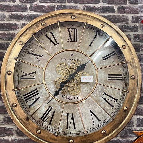 Gear clock rose gold