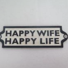 SMALL PLAQUE HAPPY WIFE