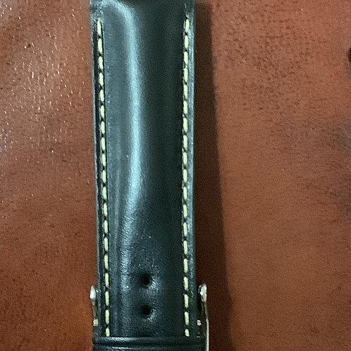 22 mm calf black leather
