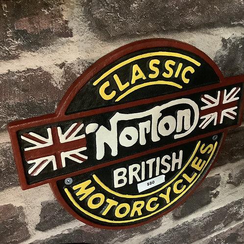 Norton classic British sign
