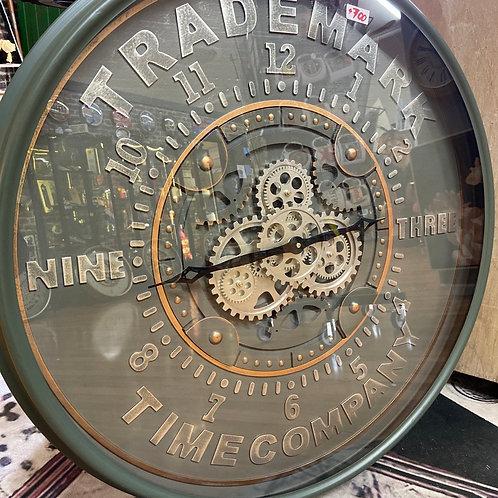 Trademark gear clock