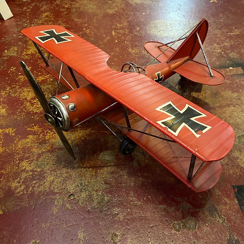Red Baron tin plane