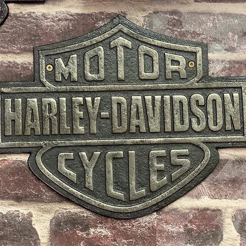Harley Davidson cast iron plaque