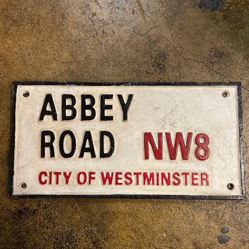 Abbey Rd cast iron sign