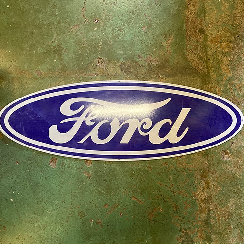 Large ford tin sign