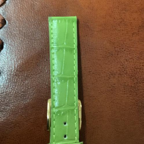 18mm rochet croco grain calf L green leather band