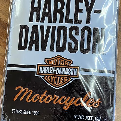Harley Tin Sign