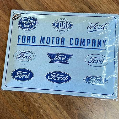 Ford Motor Conpany Tin Sign