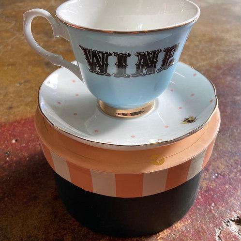 Evonne Ellen cup and saucer WINE