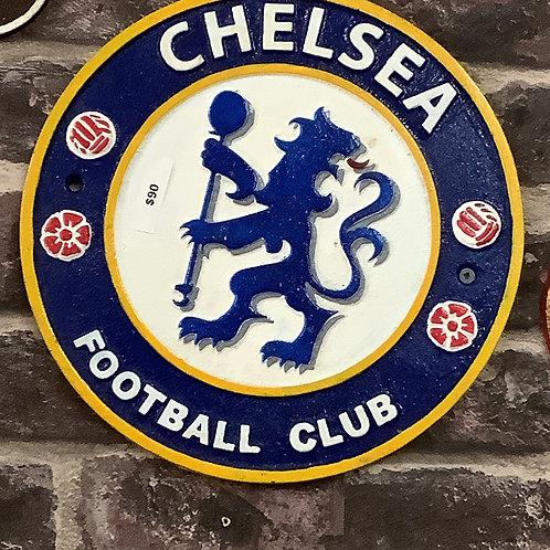 Cast iron Chelsea football club sign