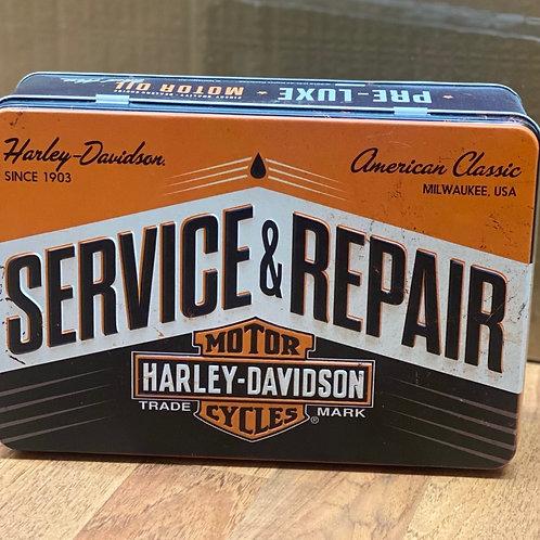Harley Davidson flat tin
