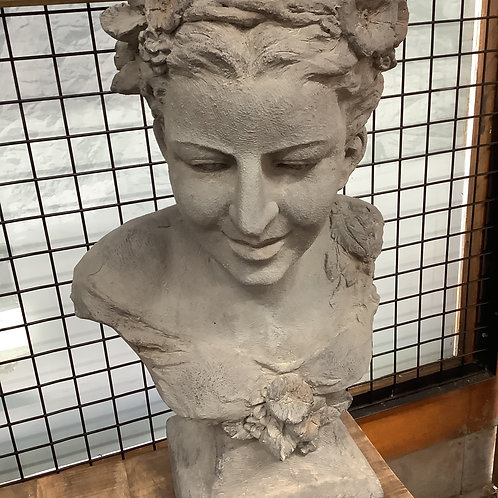 Female sculpture and plant holder