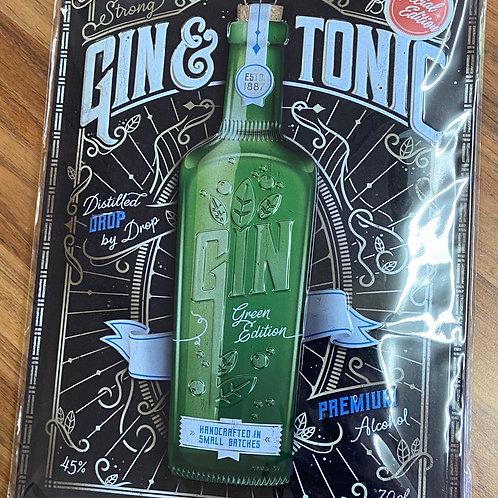 Gin and Tonic Tin Sign