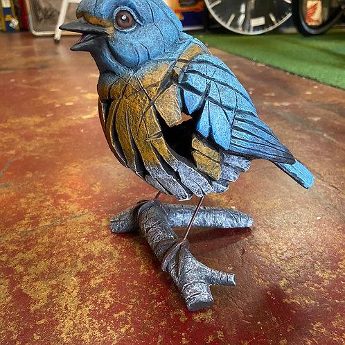 Western blue bird sculpture