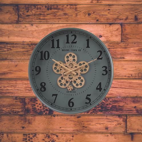 Henri modern round gear clock