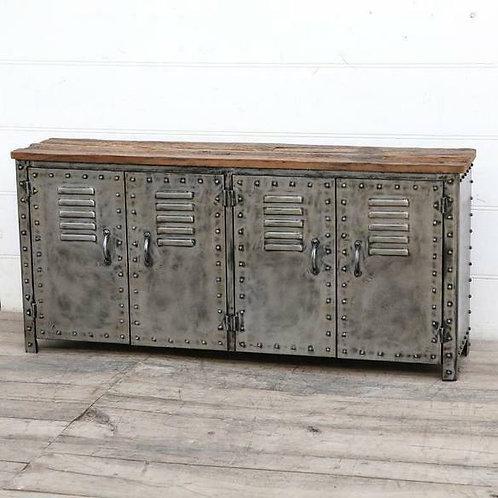 Vintage iron locker