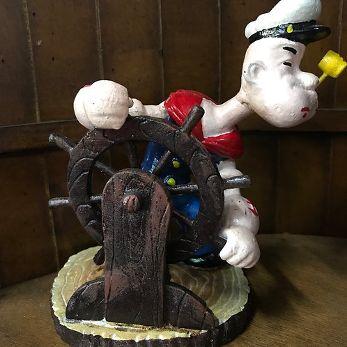 Popeye cast iron statue