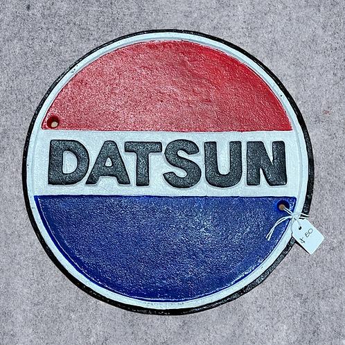Cast Iron Datsun Sign