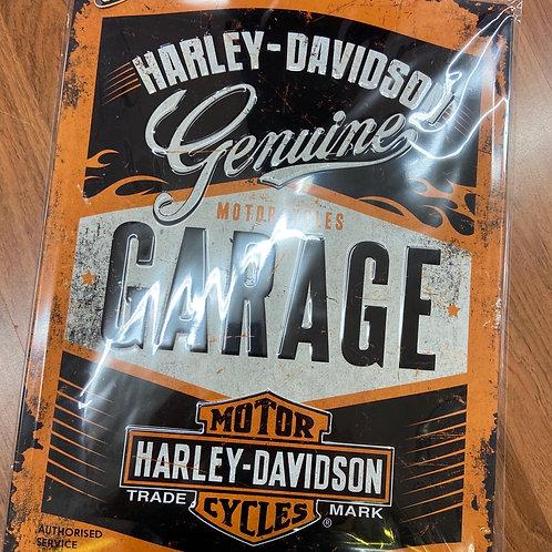 Harley Davidson Tin Sign