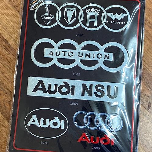 Audi Tin Sign