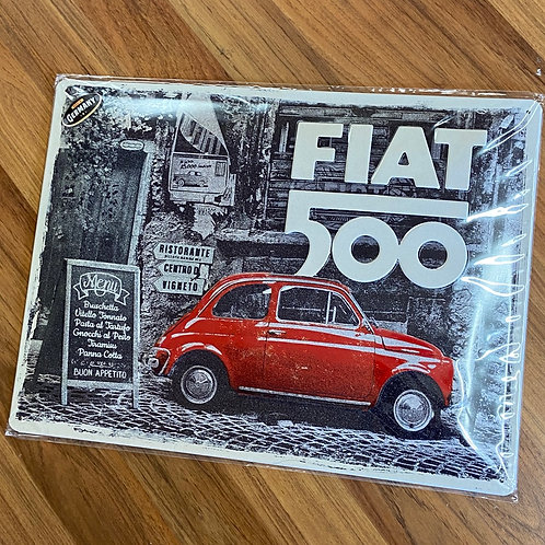 Fiat 500 Tin Sign