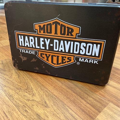 Harley Davidson Flat Storage Tin