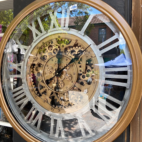 Large gear wall clock