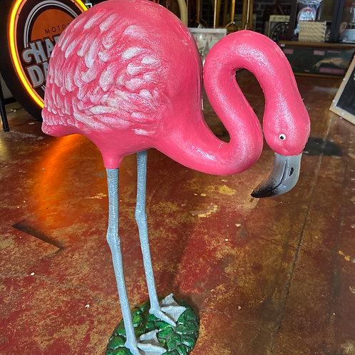 Cast iron flamingo