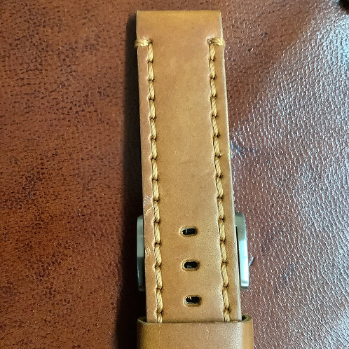 20mm rochet cow tan leather band