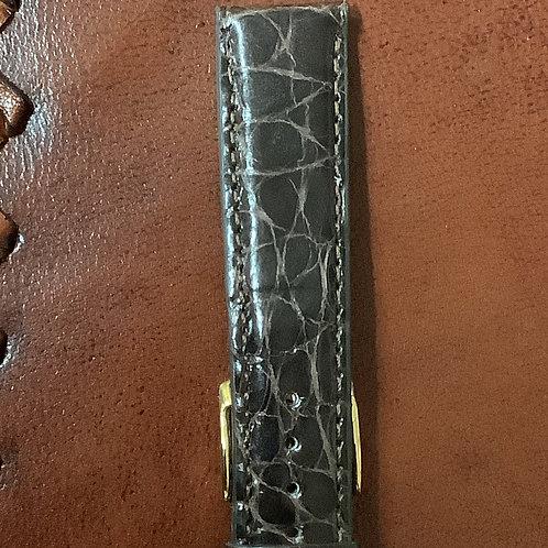 18mm crocodile brown leather