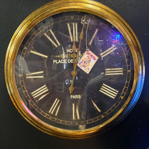 French style Electric wall clock (gold rim)