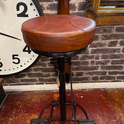 Leather Bike pedal and chain stool