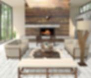 Binkey's Interors Living Room Rustic Staging