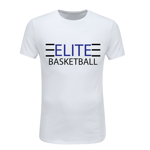 ELITE 1 White Dri-Fit with Blue and Black Lettering