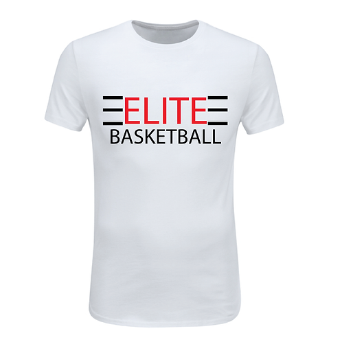 ELITE 1 White Dri-Fit with Red and Black Lettering