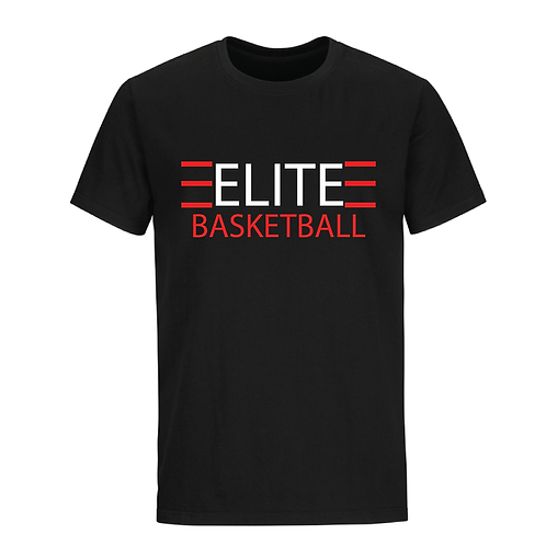 ELITE 1 Black Dri-Fit with White and Red Lettering