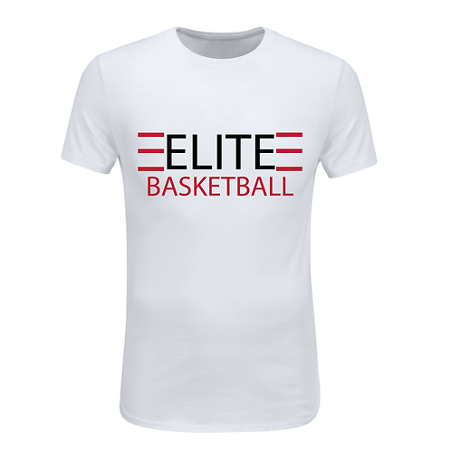 ELITE 1 White Dri-Fit with Black and Red Lettering
