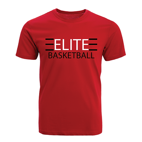 ELITE 1 Red Dri-Fit with White and Black Lettering