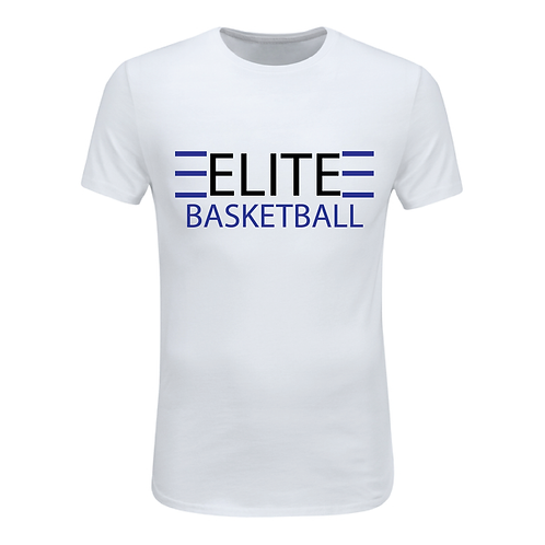 ELITE 1 White Dri-Fit with Black and Blue Lettering
