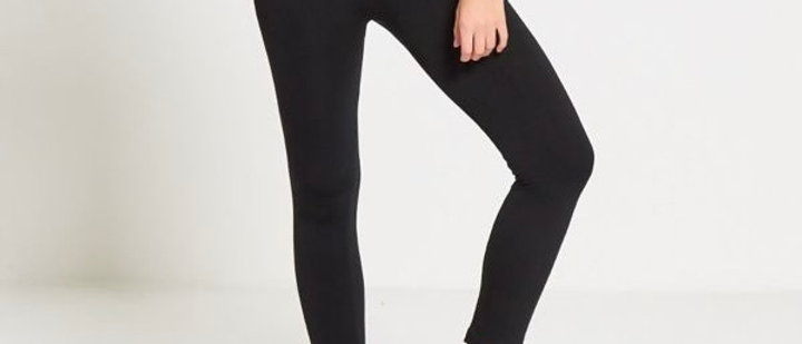 Black Warm Fleece Legging