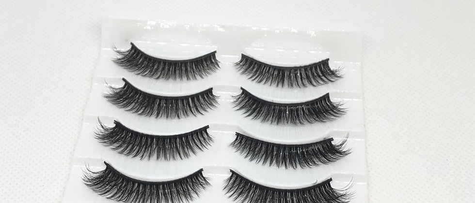 5Pairs 3D Mink Hair Natural Looking False Eyelashes