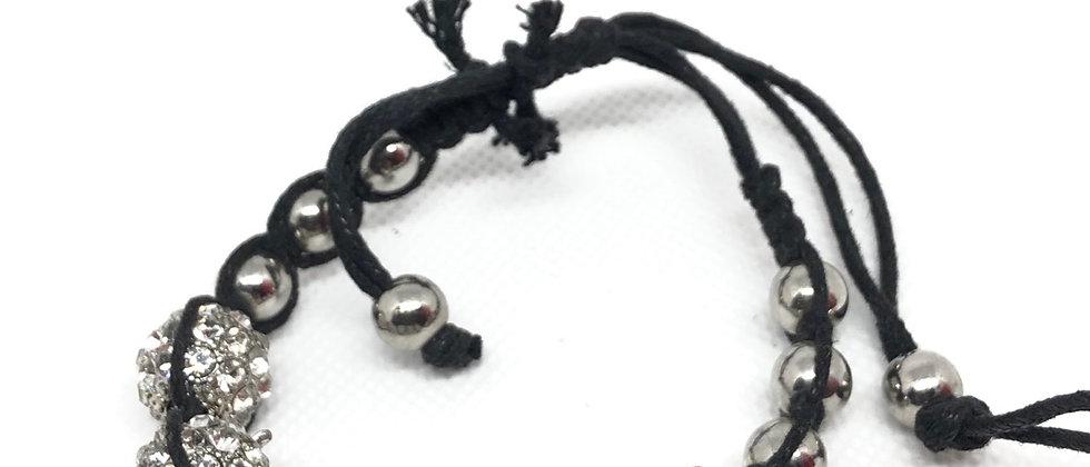 Crystal Diamanté Balls Adjustable Bracelet