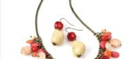 Charm Necklace andEarriung Set