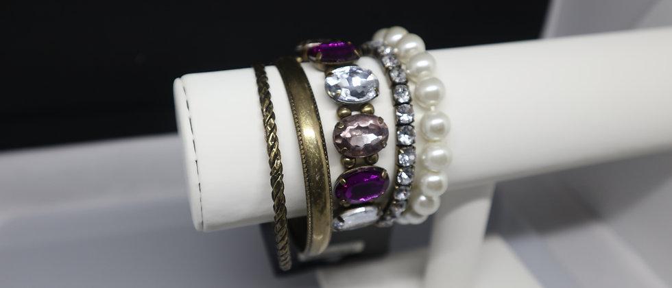 5PCS Ladies Bangle and Bracelet Set
