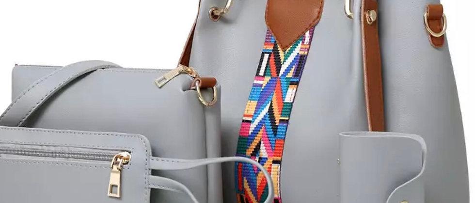 4 Pcs Ladies Tote Shoulder Bags