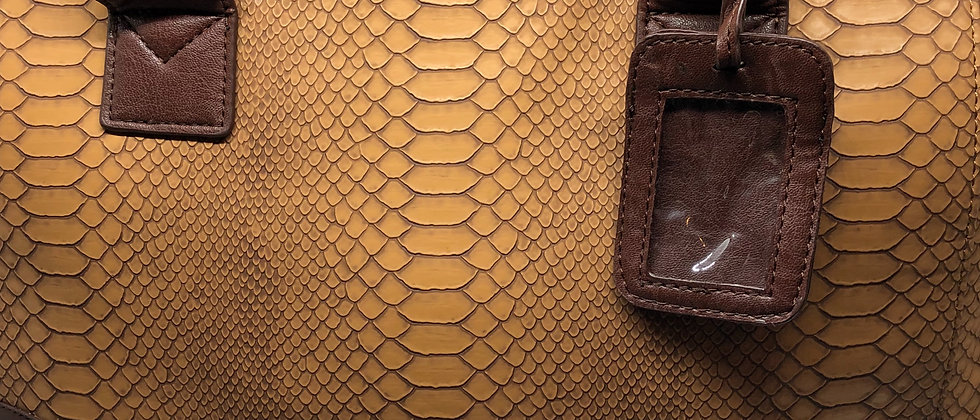 Croc Skin Effect Shoulder/ Handbag