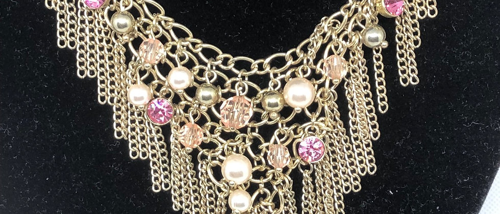 Fabulous Gold Charm Chains Statement Necklace