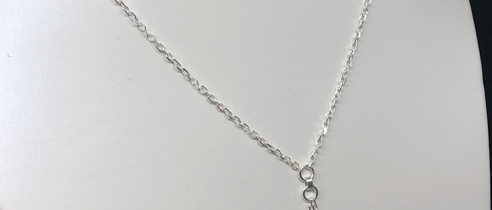 Sterling Silver Stars Chain Drop Necklace